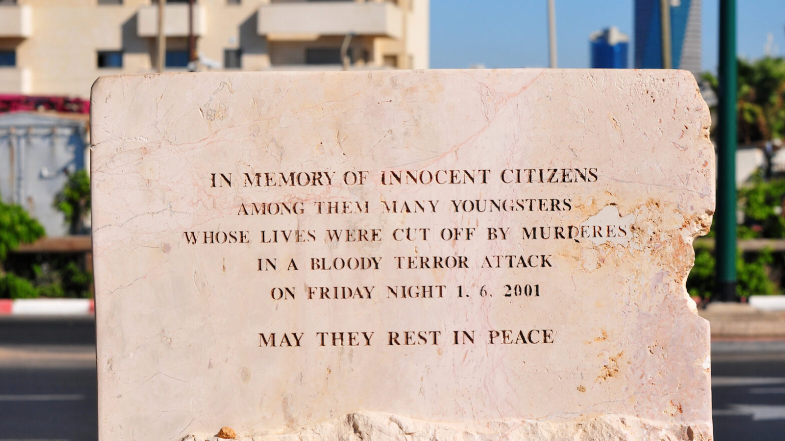 Memorial in Israel to terror victims